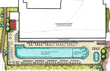 site diagram of new pool construction area